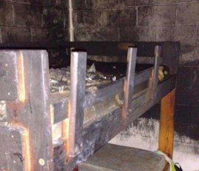 Fire Damage Knoxville Basement Before