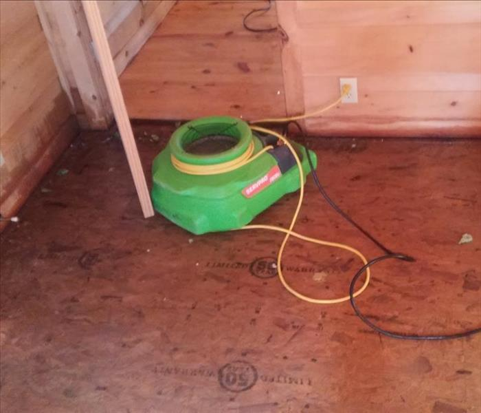 Hardwood Water Damage  After